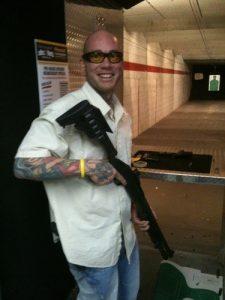 Yoxall at the range